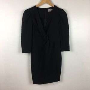 ASOS Little black dress crossover front wrap mini